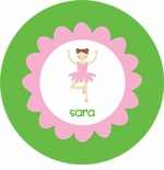 personalized ballerina plate (style 1p)