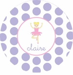 personalized ballerina plate (style 2p)