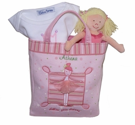 personalized ballerina tote gift set