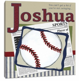 personalized baseball wall art