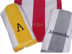 personalized beach towels - cabana wide stripe (not hooded)