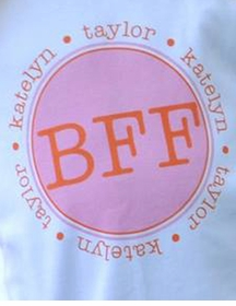 personalized bff tee shirt