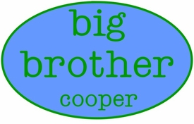 personalized big brother shirt - oval