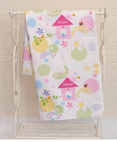 personalized birdhouse baby blanket