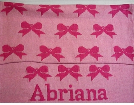 personalized bow blanket