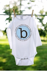 personalized boys circle tee - original style
