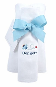 personalized burp cloths - set of three (boy)
