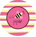 personalized busy bee plate (style 1p)
