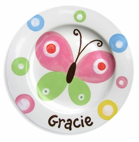 personalized butterfly sky plate