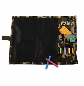 personalized camo chalkboard placemat