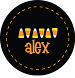 personalized candy corn holiday plate (style 2p)