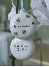 personalized candy drops christmas ornament