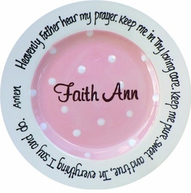 personalized christening plates