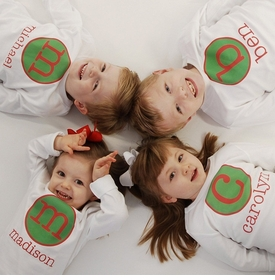 personalized christmas circle tee - the original