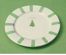 personalized christmas platter