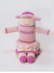 personalized cotton knit doll - annie