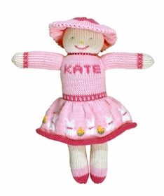 personalized cotton knit doll - kate