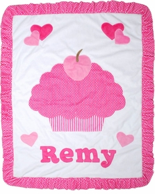 personalized cupcake blanket