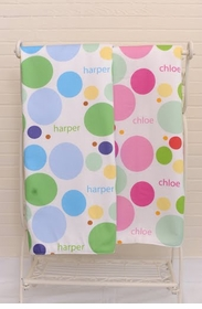 personalized dots blanket