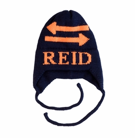 personalized double arrow hat with earflaps