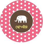 personalized elephant  plate (style 1p)