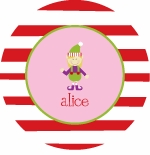 personalized elf  holiday plate (style 1p)