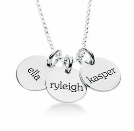 personalized elle collection 3 tags mommy necklace