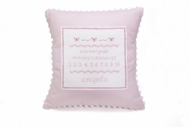 personalized embroidered alphabet baby pillow
