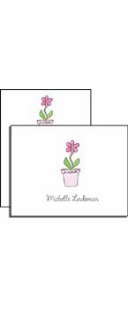 personalized everyday notes � blooming pink