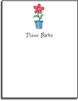 personalized everyday notes � blooming red