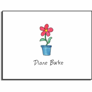 personalized everyday notes – blooming red