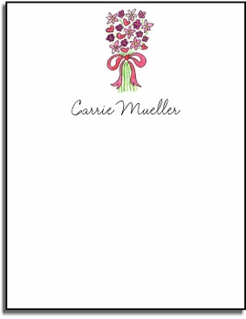 personalized everyday notes � bouquet in pink