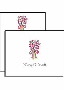 personalized everyday notes – bouquet in pink