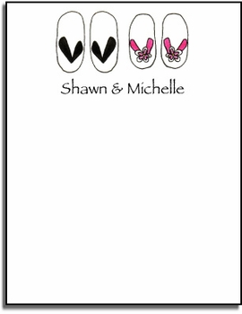 personalized everyday notes - flip flops