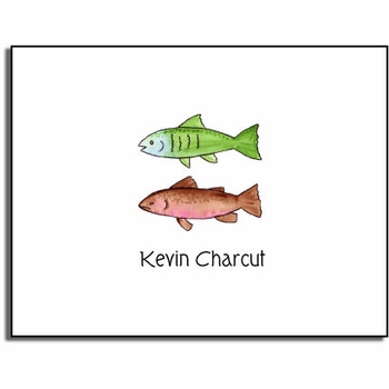 personalized everyday notes � gone fishing