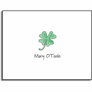 personalized everyday notes � lucky clover
