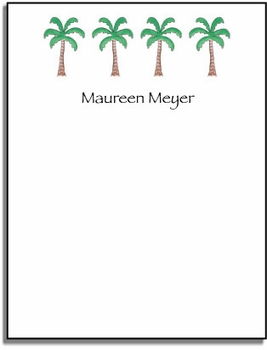 personalized everyday notes � palm paradise