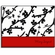 personalized everyday notes � red cherry blossom