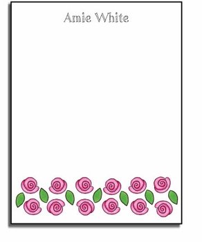 personalized everyday notes � rose garden