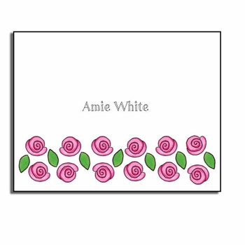 personalized everyday notes – rose garden
