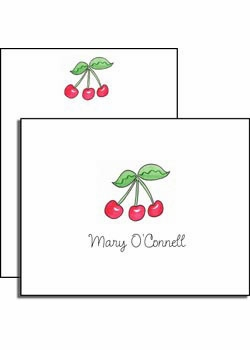 personalized everyday notes - rosy red cherries