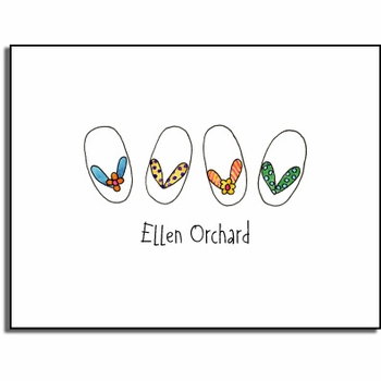 personalized everyday notes - summer flip flops