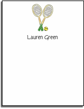 personalized everyday notes � tennis pro