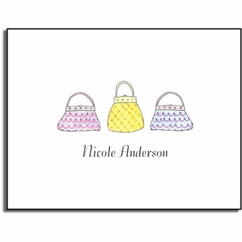 personalized everyday notes � vintage bags
