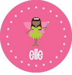 personalized fairy princess (dark skin) plate (style 2p)