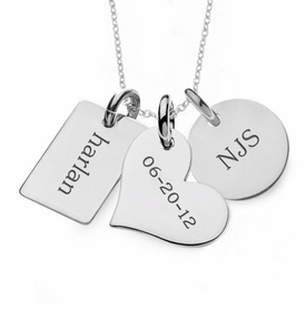 personalized family necklace sterling silver