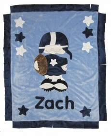 personalized first down blanket