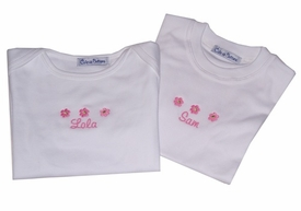 personalized flower tees - girl