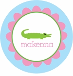 personalized gator plate (style 1p)