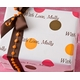 personalized gift wrap - fall dots